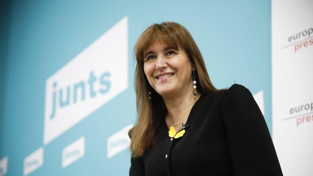 Laura Borrás, candidata de Junts a la Generalitat aunque la lista va encabezada por Carles Puigdemont