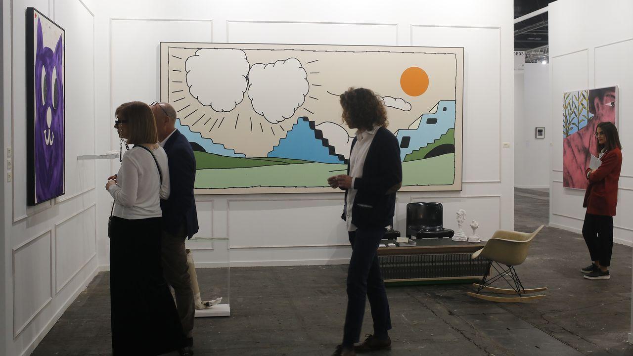 La galería mallorquina L21 firma uno de los estands más genuinos, con obras de Szabolcs Bozó, Fabio Viscogliosi, Rafa Forteza y Vojttéch Kovarík