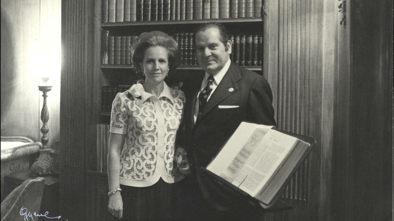 Eduardo Barreiros y su esposa María Dorinda Ramos