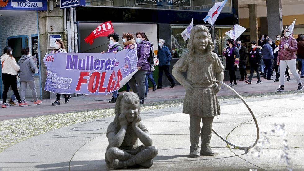 8-M. Día da Muller en Pontevedra.Anabel Gulías, portavoz del gobierno local de Pontevedra
