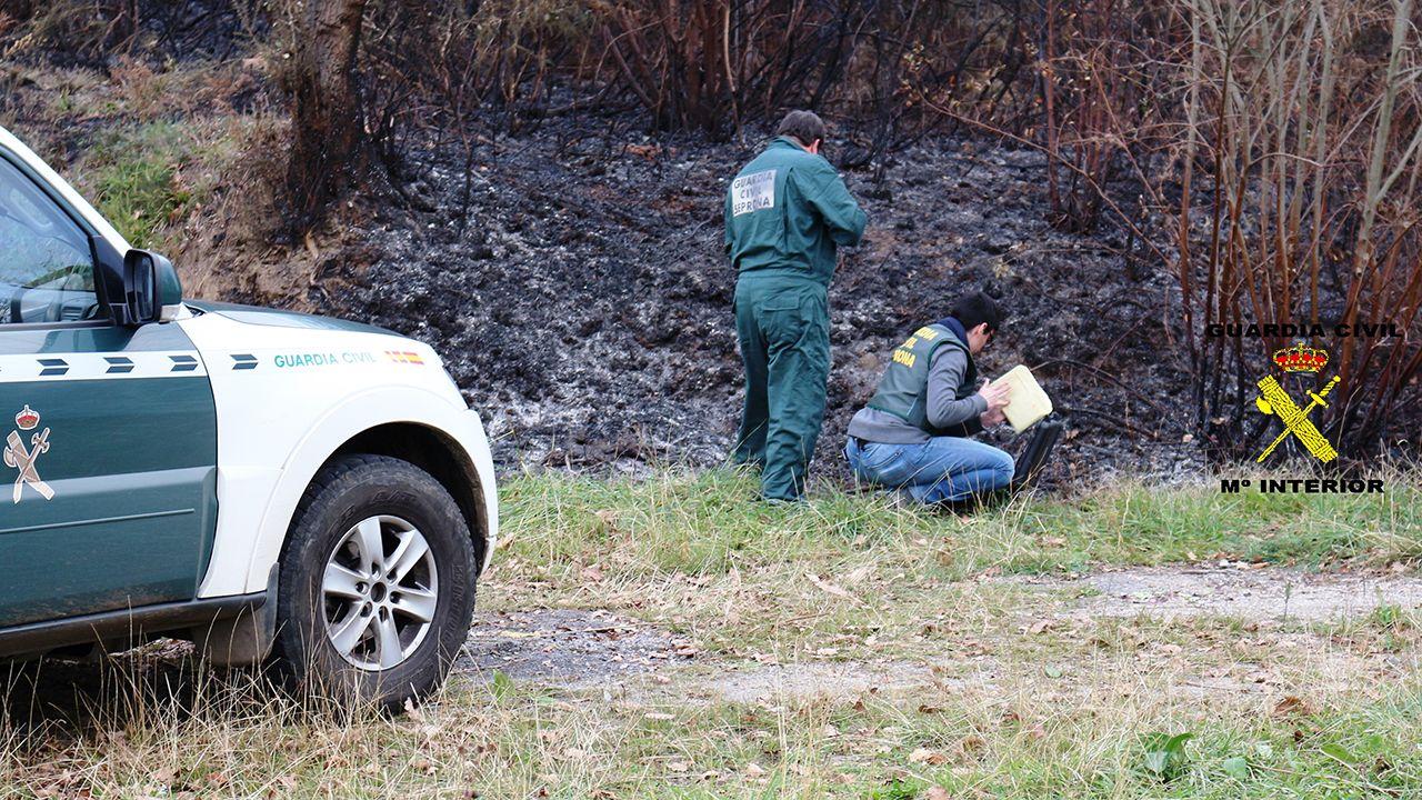La Guardia Civil investiga un incendio