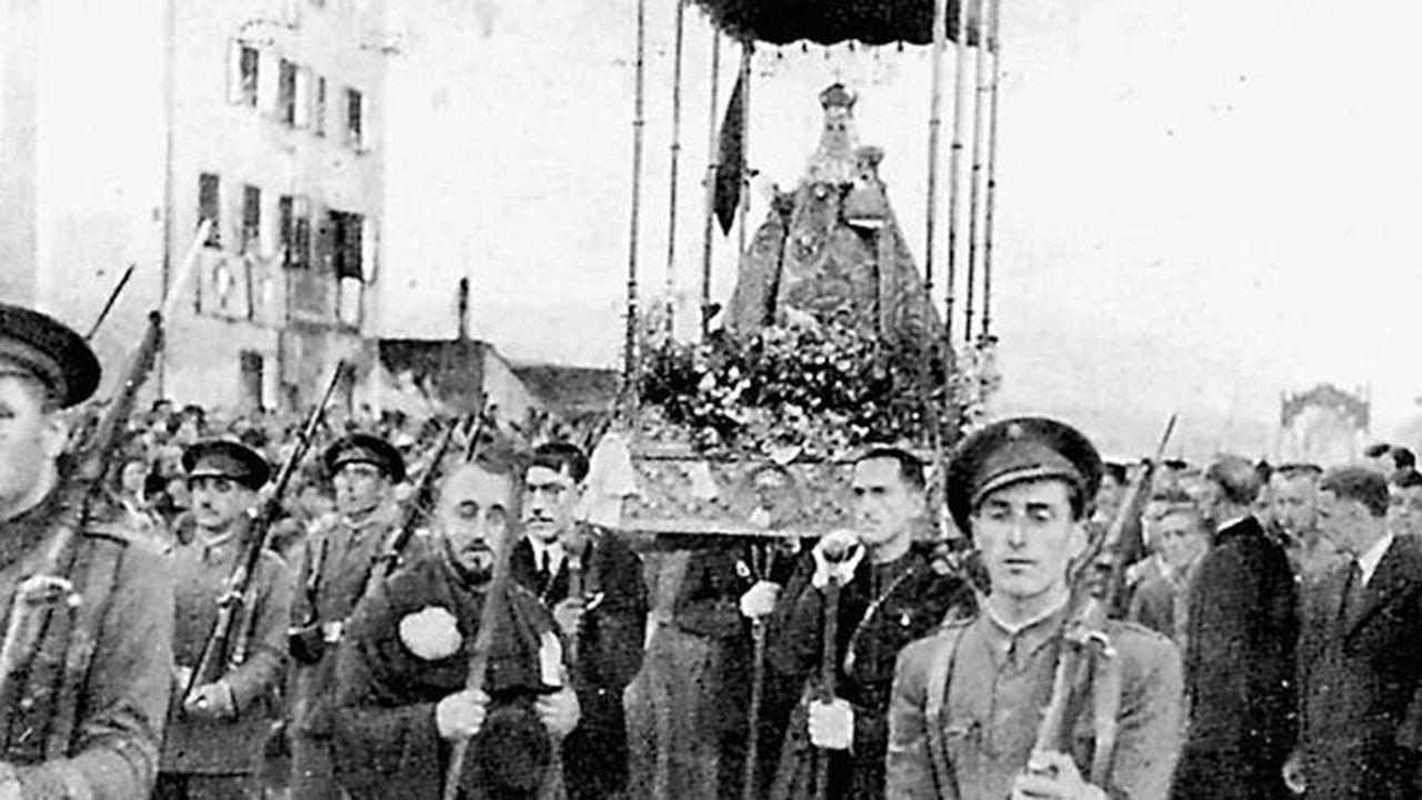 Huca, Oviedo .Así regresó La Santina a Asturias tras su exilio en París durante la Guerra Civil