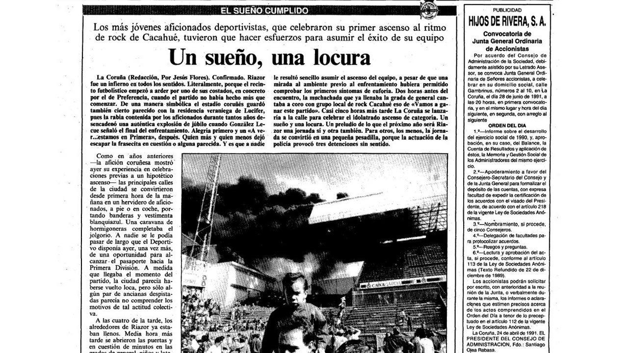 Página de La Voz del 10 de junio de 1991