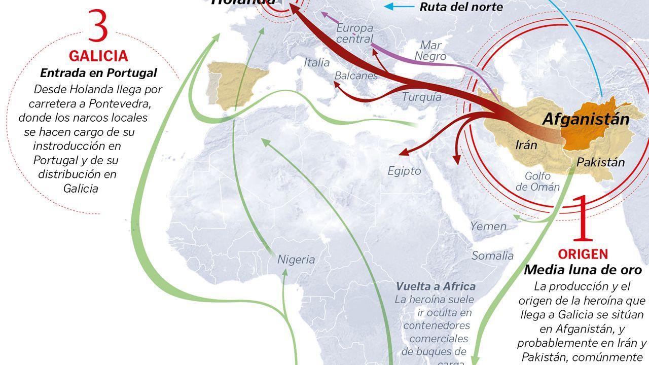 Así es el viaje de la heroína desde Asia hasta Europa