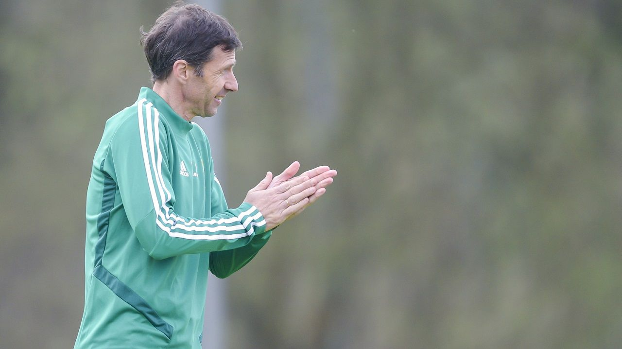 Borja Sanchez Real Oviedo Requexon coronavirus.Ziganda en El Requexón