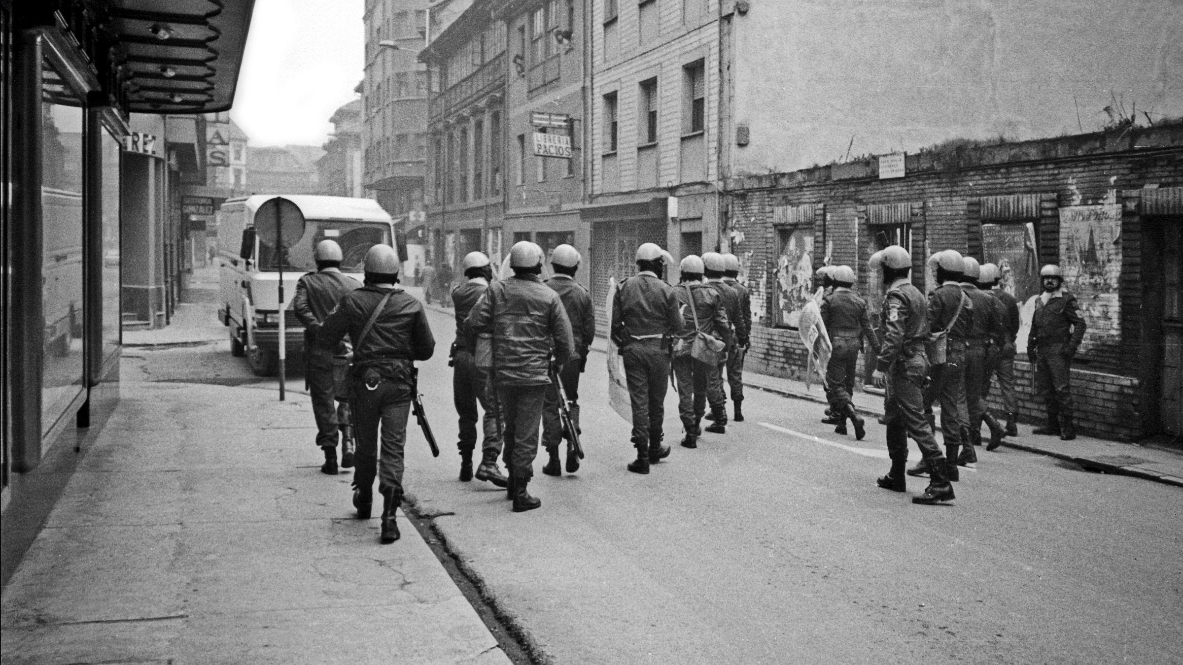 Movilizaciones mineras. Sama. 1986