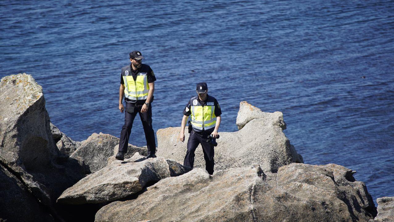 Dispositivo de búsqueda de los dos jóvenes desaparecidos.