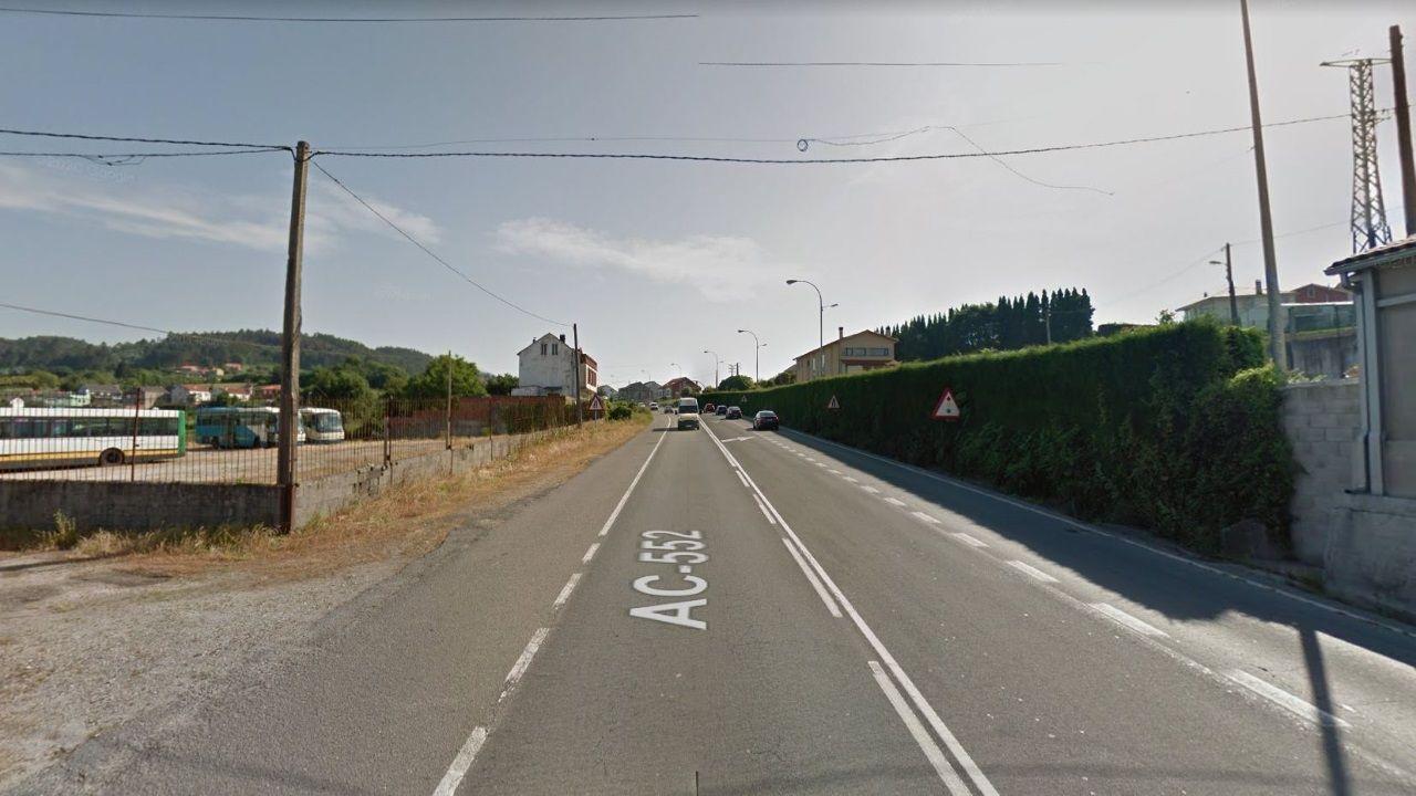 Las mejores vistas en la provincia de A Coruña desde las alturas.Tramo de la AC-552 en su paso por Lañas