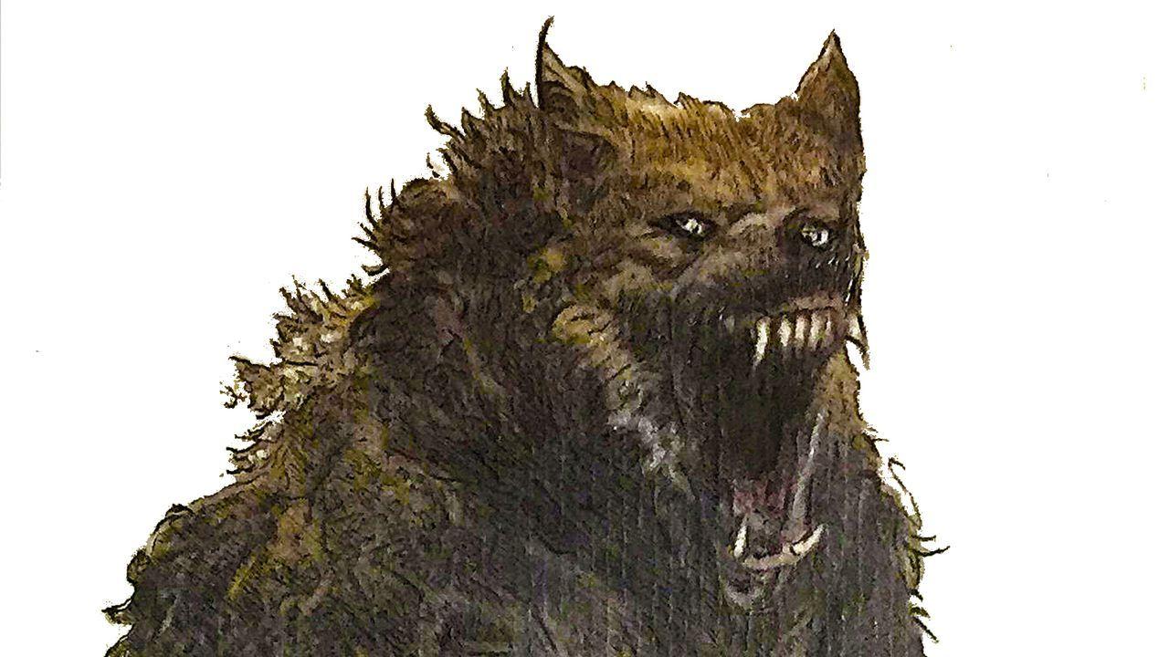 Dumbría resucitó al monstruo.Boceto en el que el artista Cándido Pazos recrea al monstruo