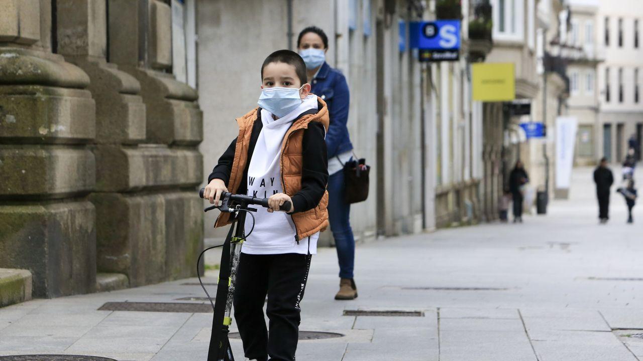 Con el patinete por las calles de Lugo