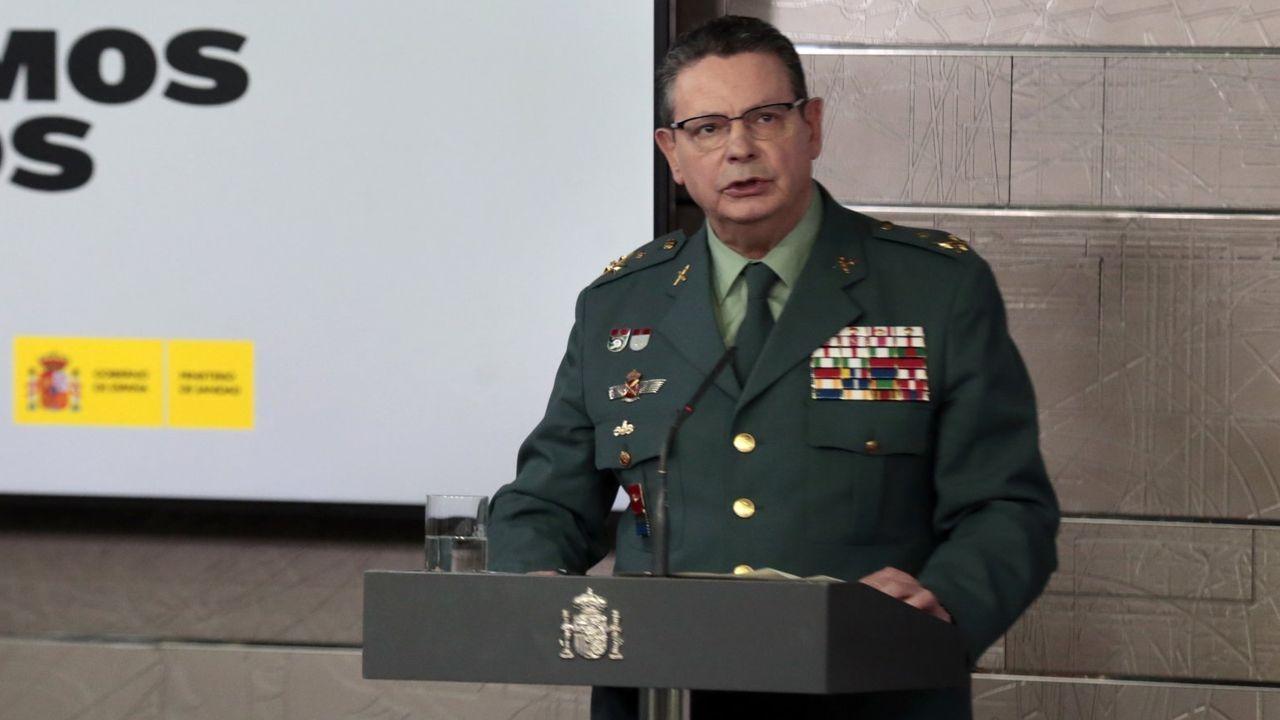 El teniente general Laurentino Ceña, en una de las comparecencias de marzo
