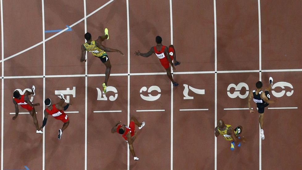 Final masculina de 100 metros lisos