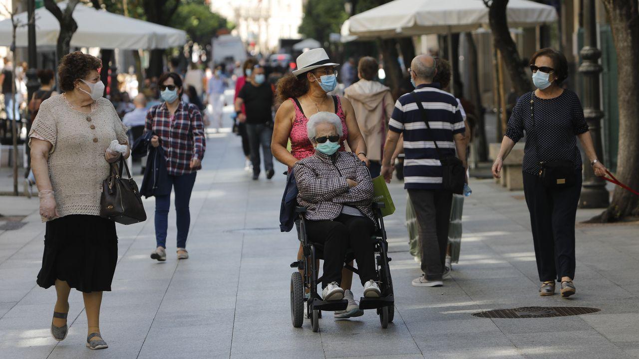 La calle del Paseo, en torno a las 12.00 horas de este jueve