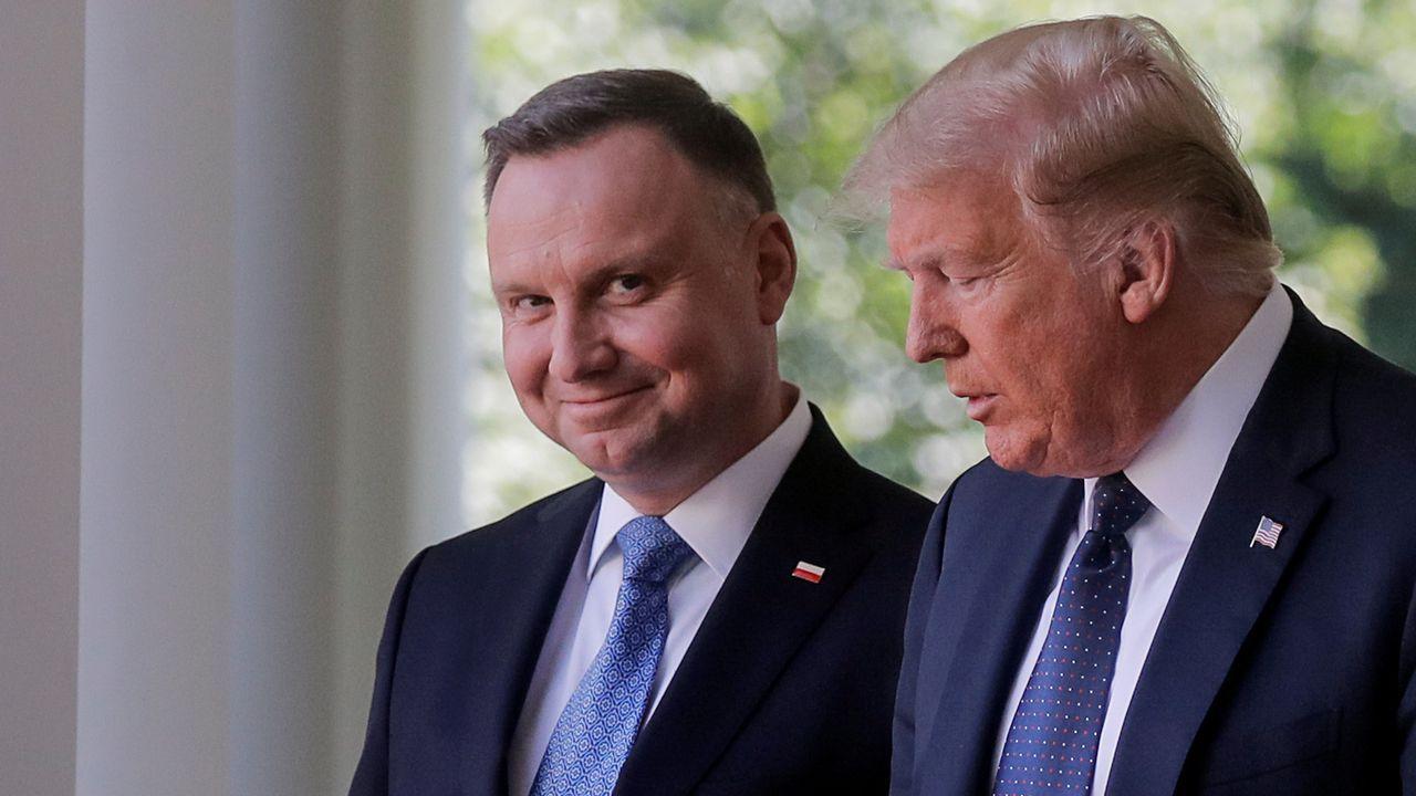 Trump recibió el miércoles al presidente polaco, Andrzej Duda, en la Casa Blanca