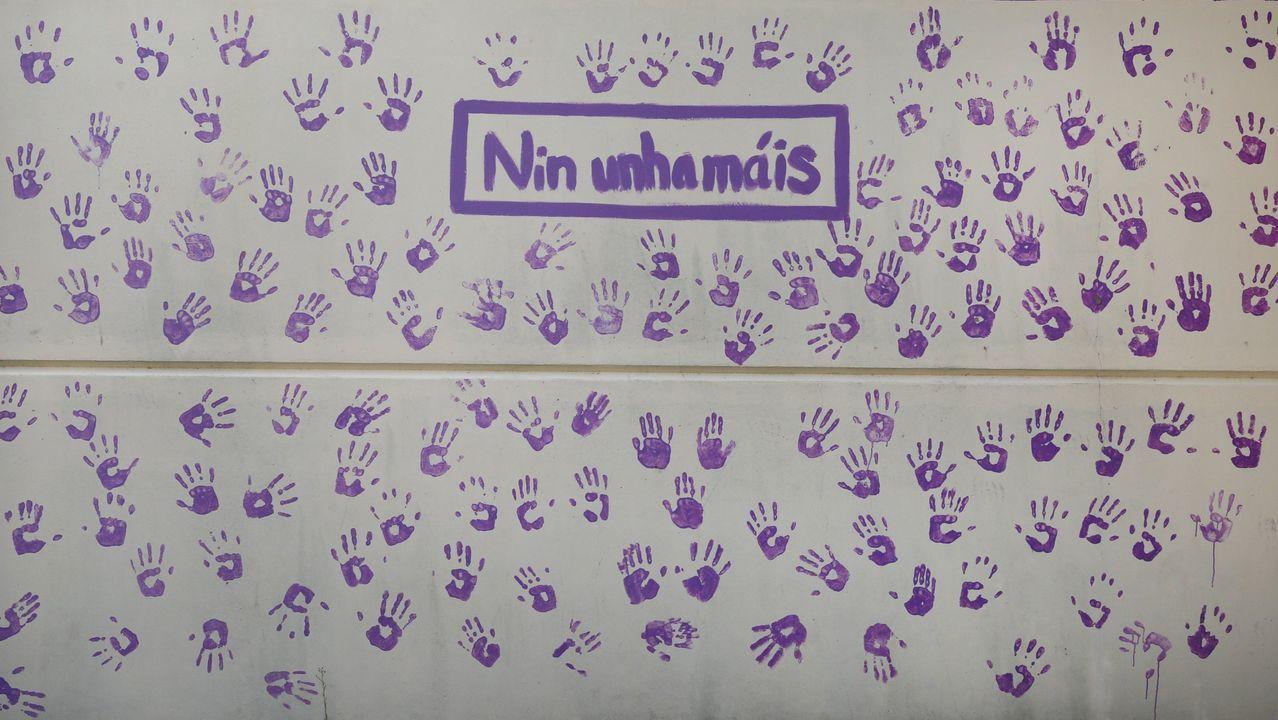 Cartel contra la violencia machista en el instituto de Valga (Pontevedra)