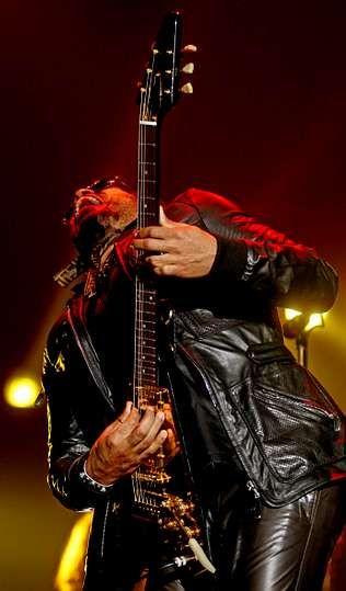 Lenny Kravitz, en su concierto del 2008 en Vigo.