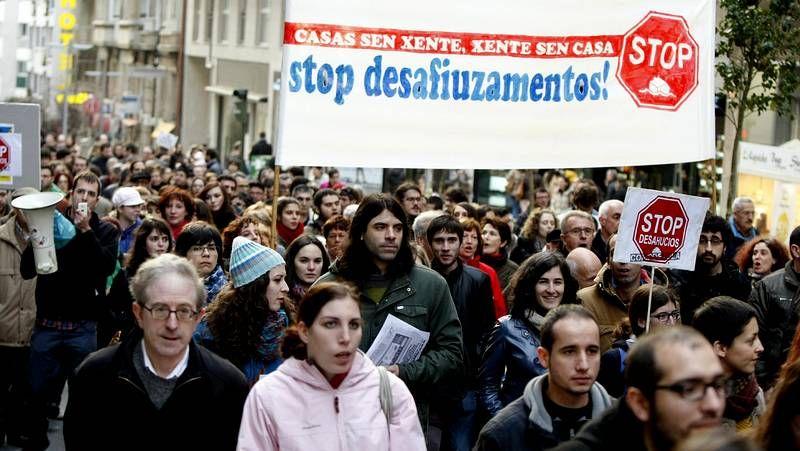 Marchas de Stop Desahucios en Galicia