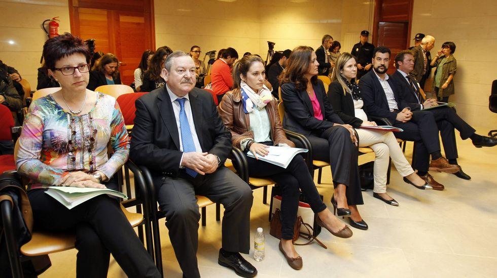 Conde Roa, el pasado julio, a la salida del juzgado de Lugo