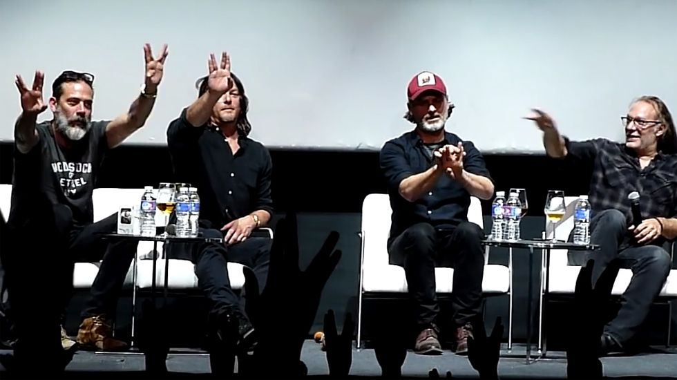 Norman Reedus, Andrew Lincoln y Jeffrey Dean Morgan visitan Madrid