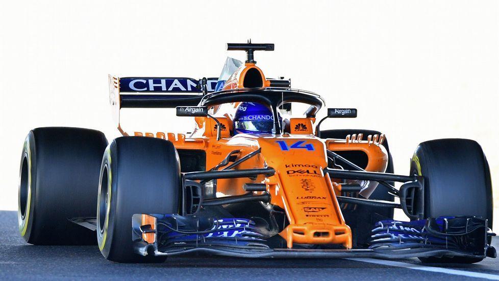 EL McLaren de Fernando Alonso, en Suzuka