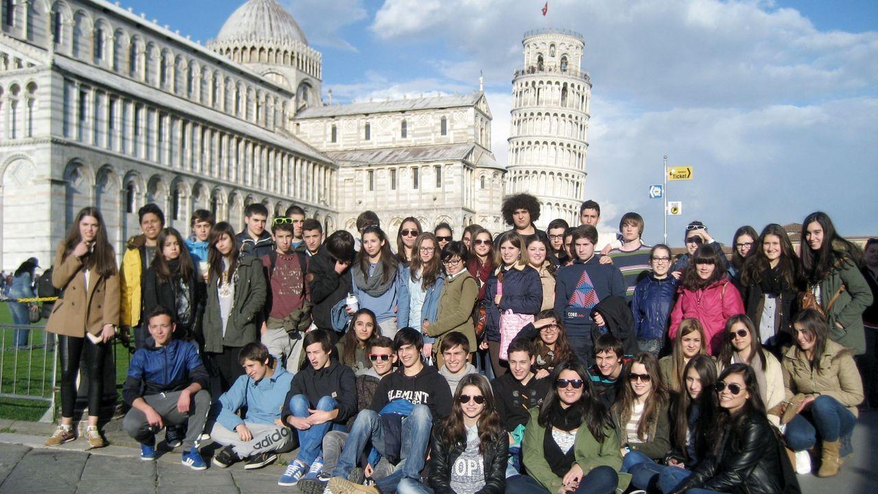Foto de archivo de alumnos del IES Sanxillao en Italia
