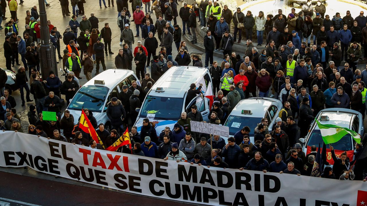 PROTESTAS DE TAXISTAS EN MADRID