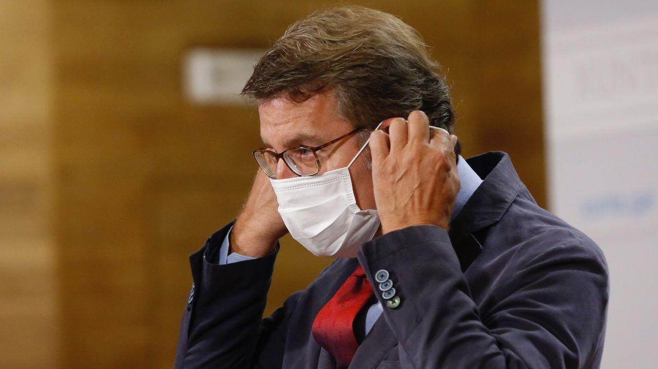 Alargar el verano en A Mariña.El presidente de la Xunta, Alberto Núñez Feijoo, se refirió este miércoles al brote registrado en A Mariña durante su comparecencia en Santiago