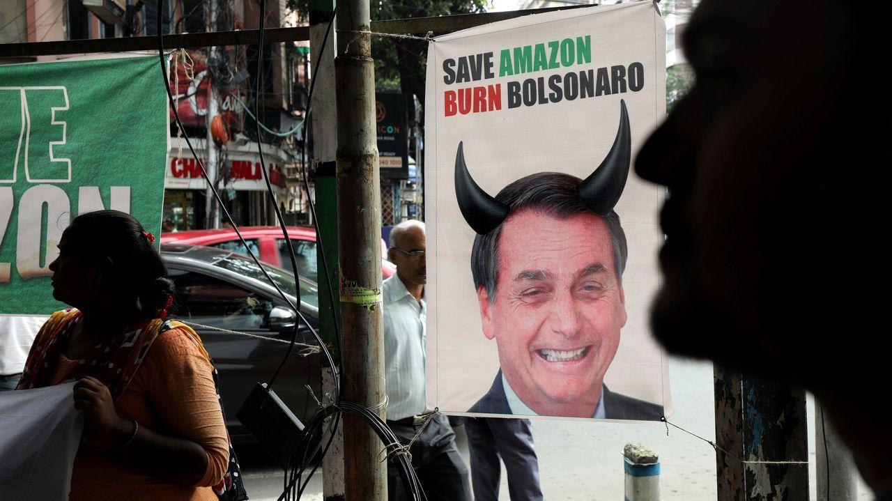 El ministro brasileño de Economía, Paulo Guedes, y el presidente Jair Bolsonaro