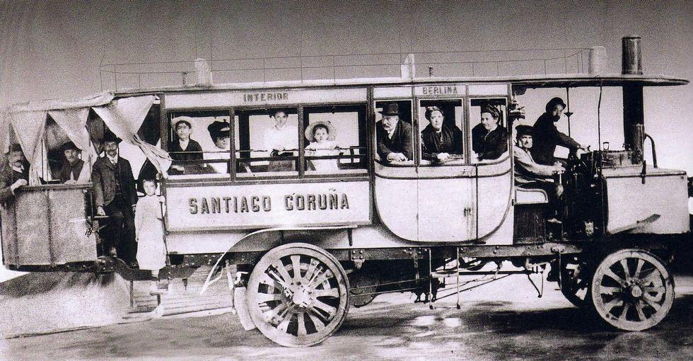 La de Compostela a Coruña fue la principal línea de transporte que montó el empresario.