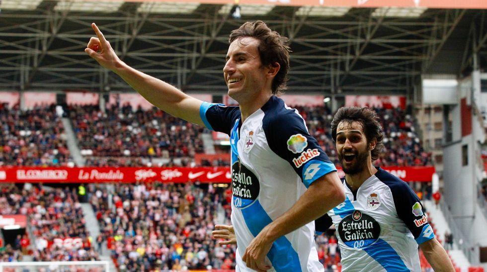 Las mejores fotos del Sporting-Deportivo.Anquela y Baraja