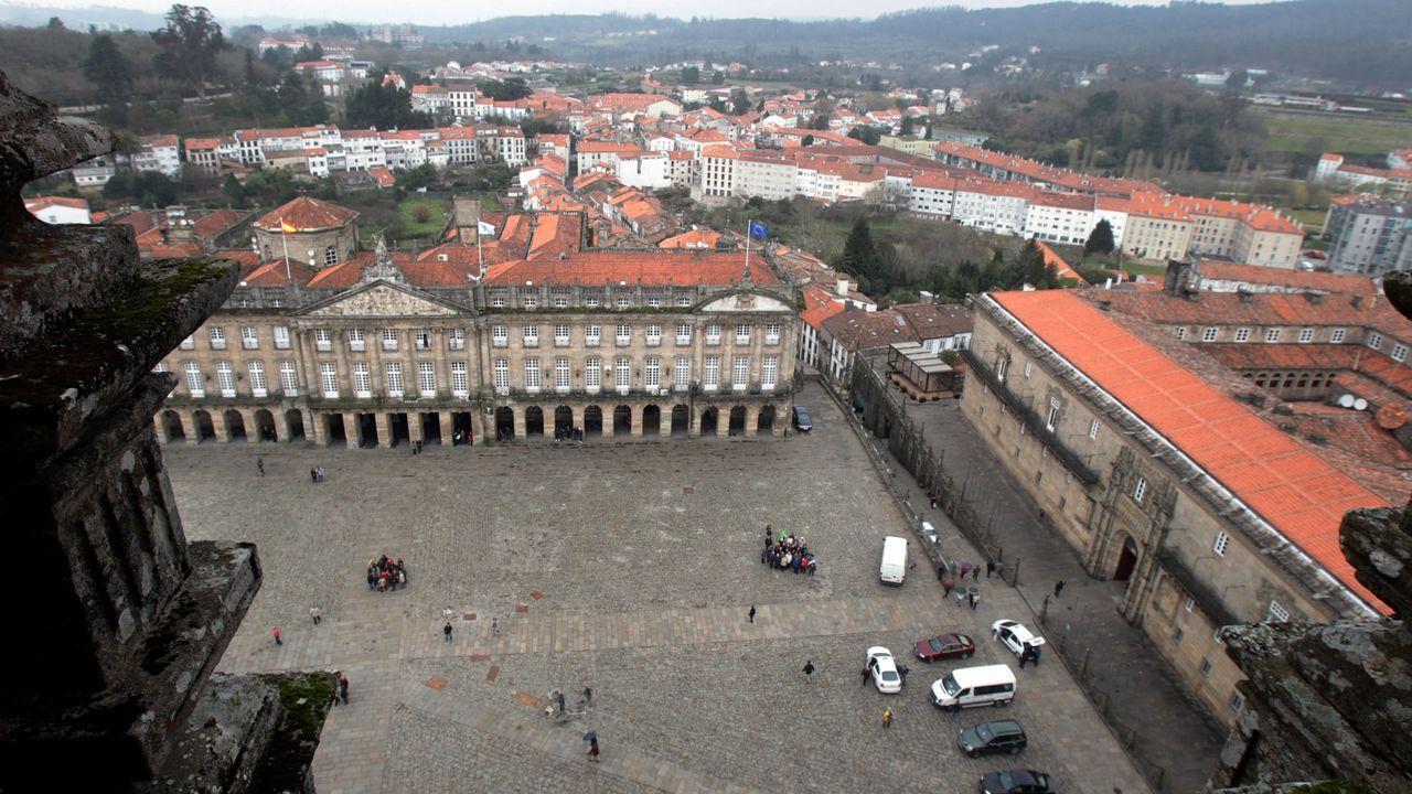 La Catedral y el Hostal estaban considerados bienes de interés cultural, pero no San Martiño