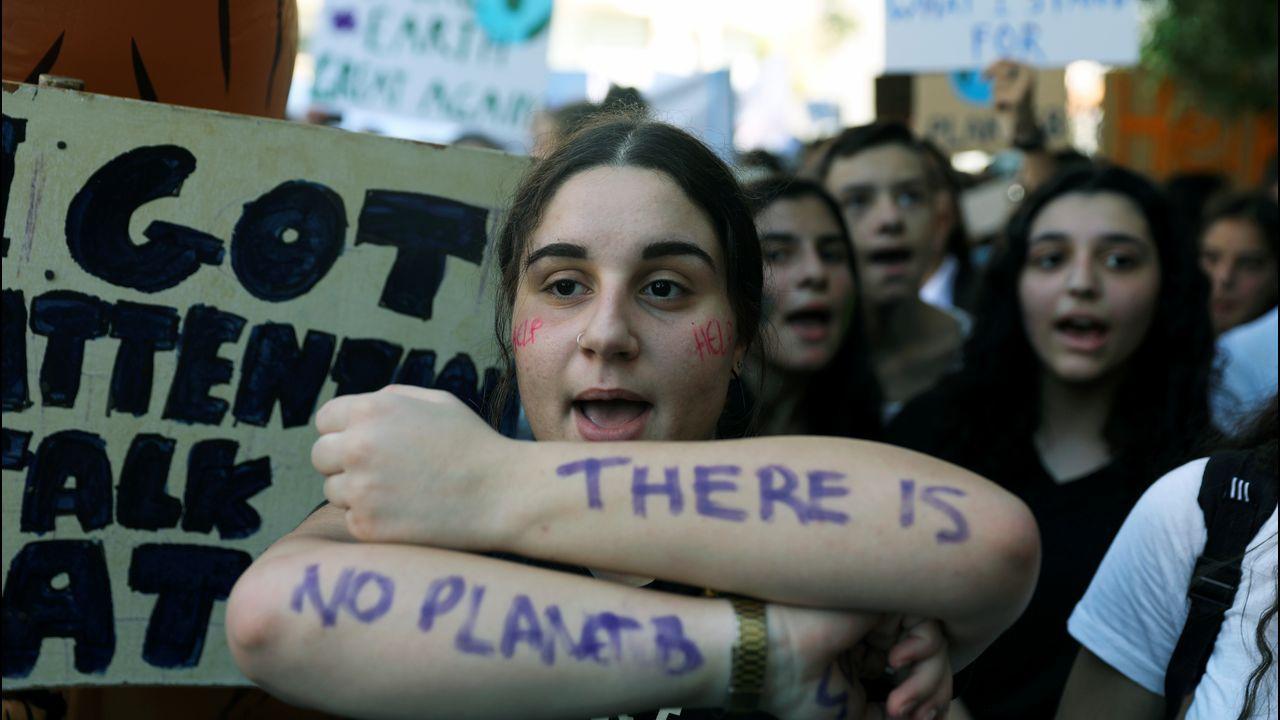 Activistas en Nicosia