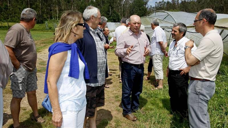 Los agricultores franceses, ayer en Valenza.