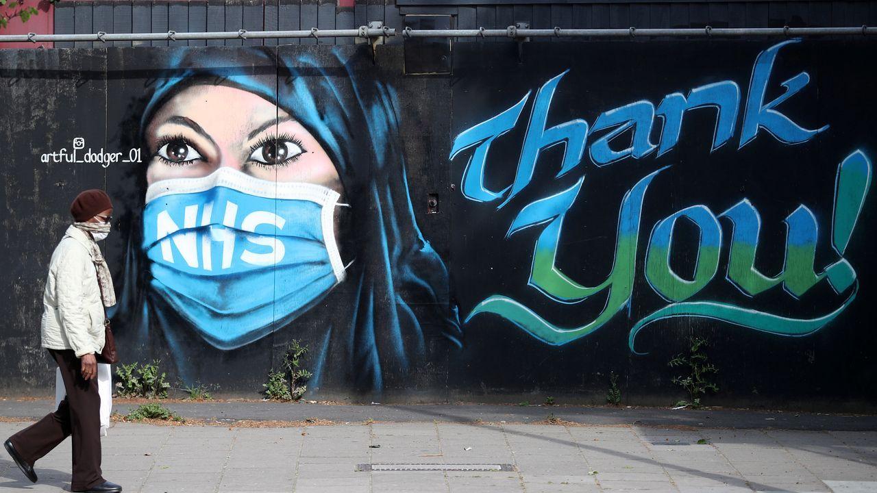 Un mural pintado durante la pandemia en Londres