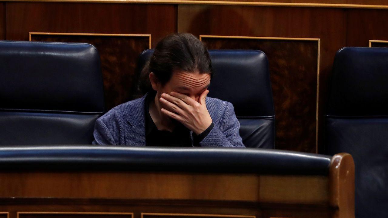 Pablo Iglesias, en la sesión del miércoles en el Congreso de los Diputados