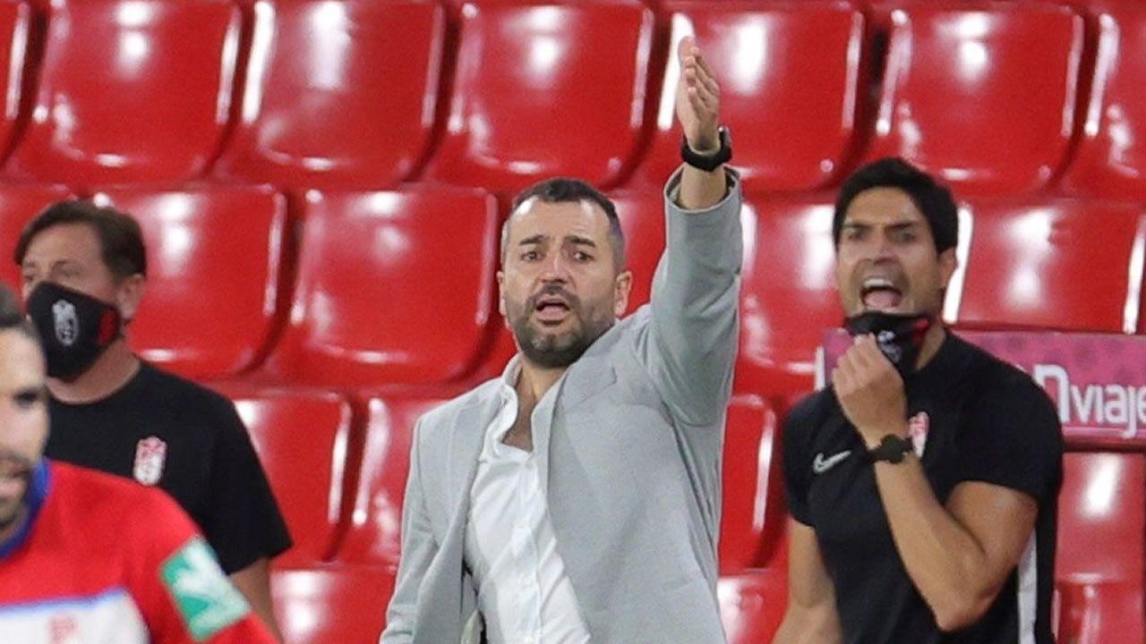 Juanfran durante su primer entrenamiento  con el CD Lugo