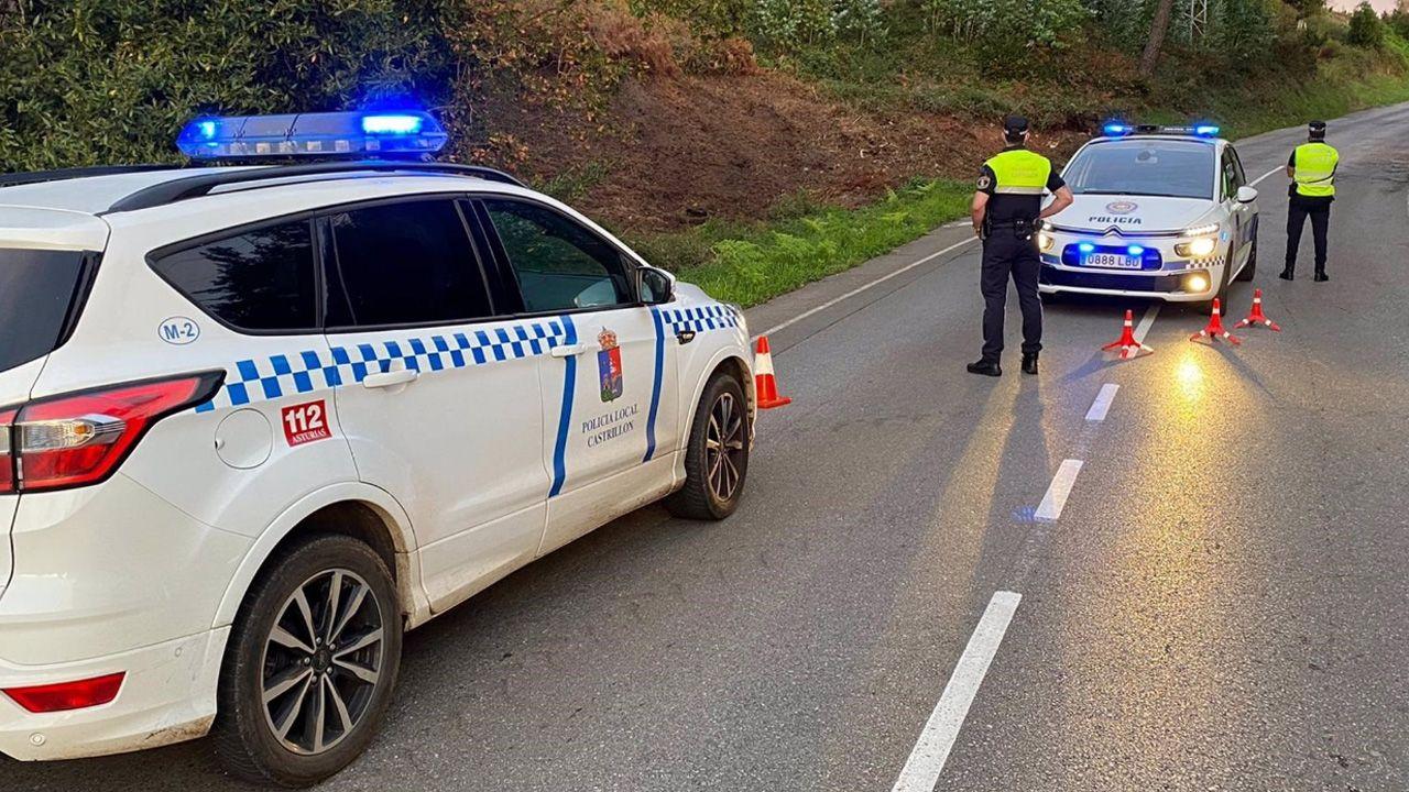 Control en Coto Carcedo de la Policía local de Avilés