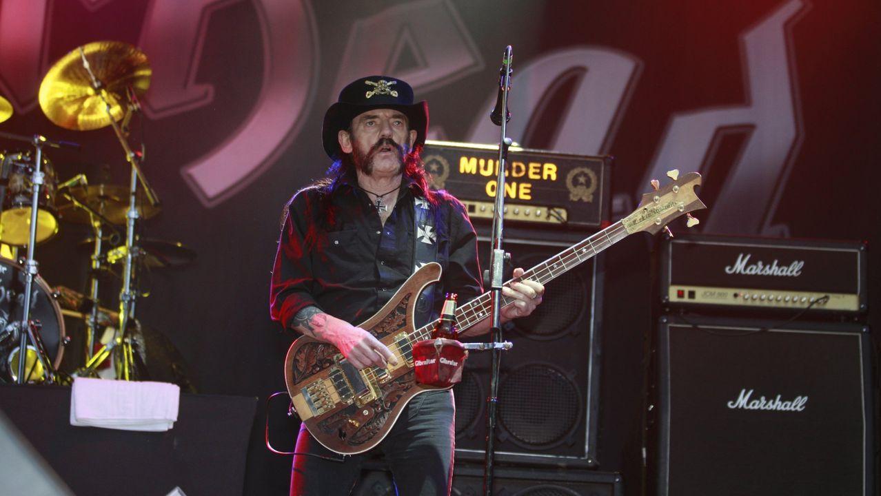 Lemmy Kilmister, líder de Motörhead, durante el Resu del 2015; falleció meses después