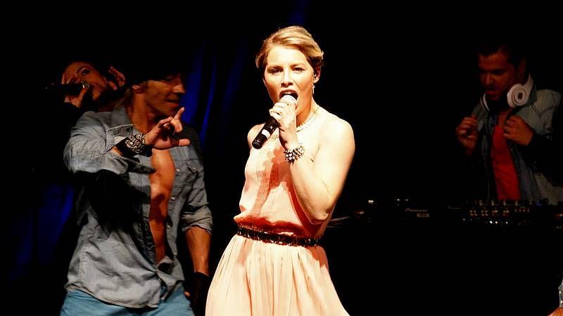 Primeras imágenes de «We Love Tamara».De Forest celebró ayer en Copenhague su victoria.
