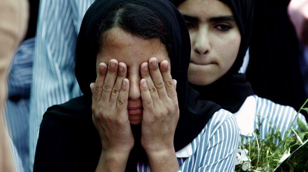 Batalla campal en Cisjordania.El fotógrafo vigués reflejó el miedo de la población palestina en su viaje a Cisjordania.