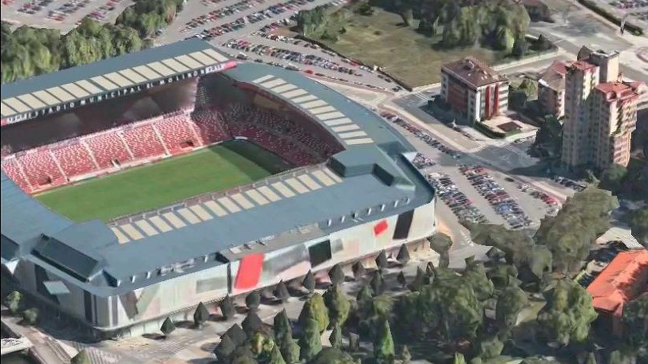 Flyover de Google Maps sobre Gijón.José Luis Dominguez, en el centro de la imagen