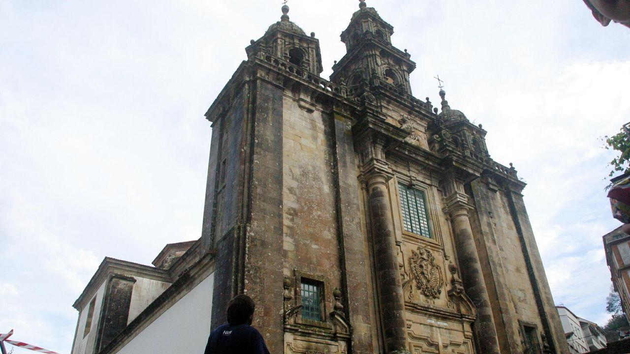 En foto de archivo, la iglesia de Santiago de Pontedeume