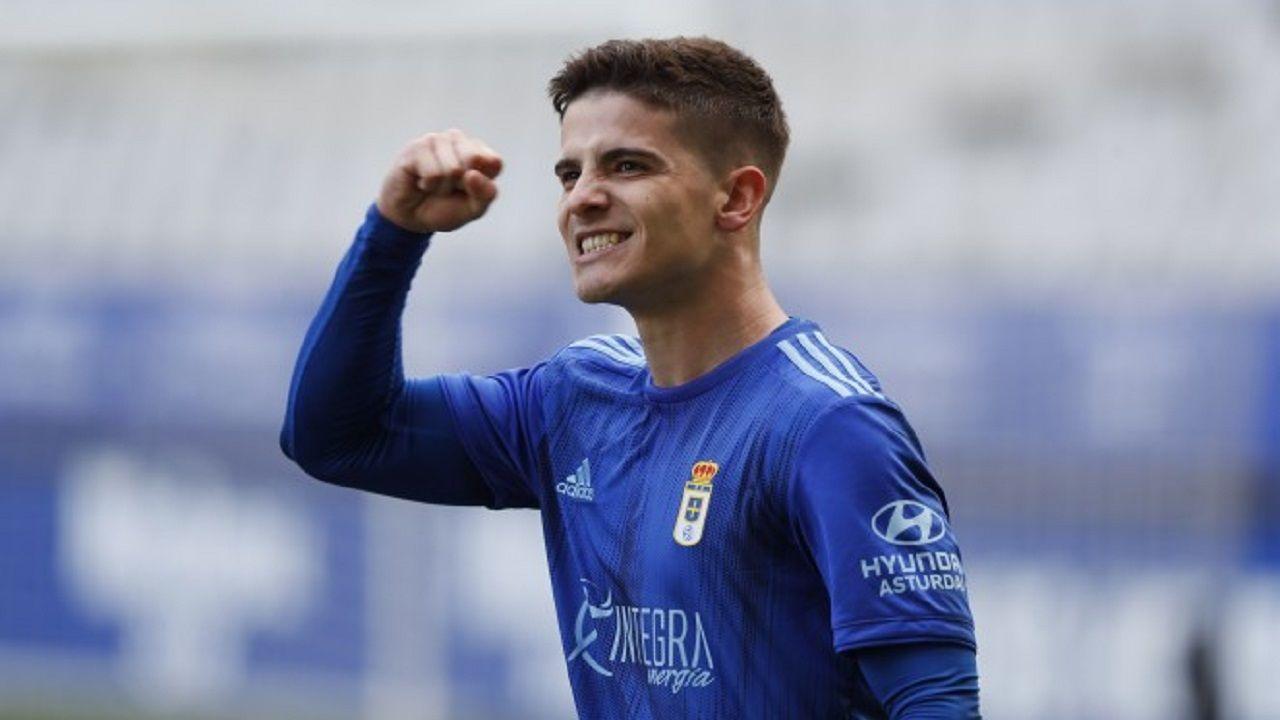 Pelayo Novo Ander Herrera Real Oviedo Athletic Bilbao Carlos Tartiere Copa del Rey.Riki celebra su tanto ante el Sporting B