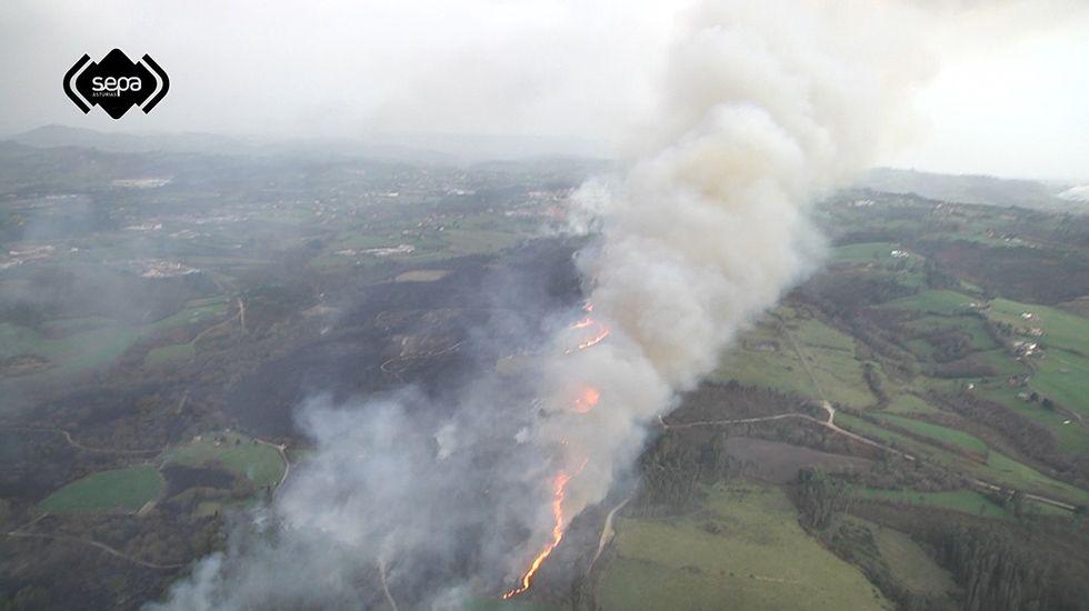 Imagen de archivo de un incendio en Asturias