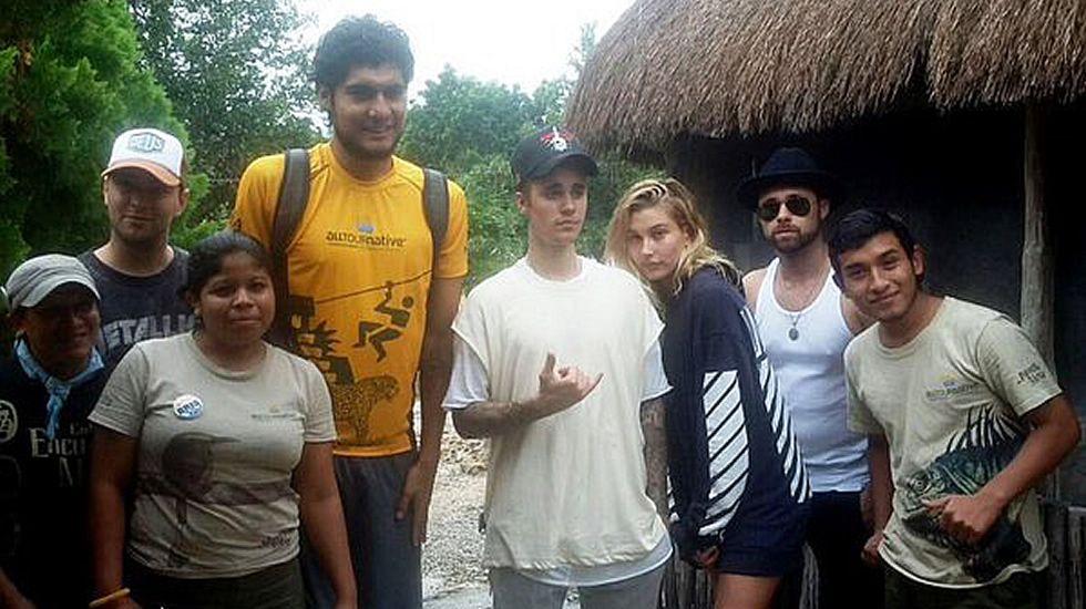 Destinos vacacionales.Justin Bieber de vacaciones en la Riviera Maya