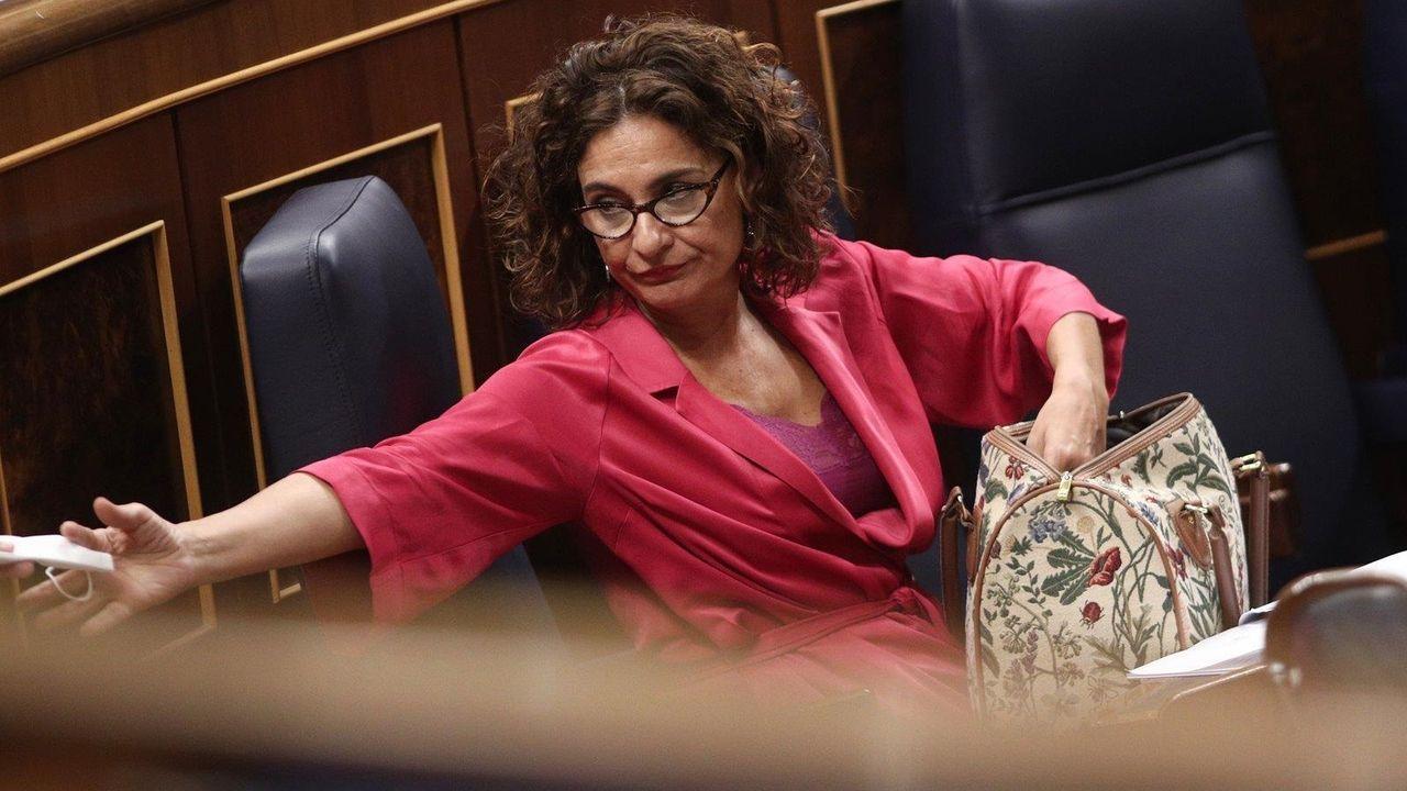 La ministra de Hacienda, María Jesús Montero, el pasado jueves en el Congreso