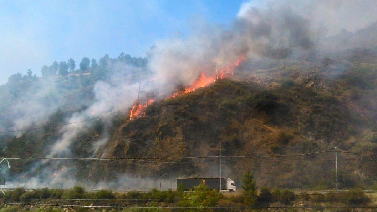 El incendio forestal de Montefurado fue el mayor registrado el año pasado en el municipio de Quiroga