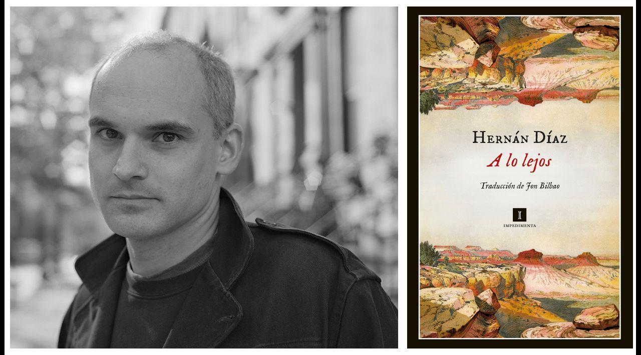 El escritor Hernán Díaz (Buenos Aires, 1973) lleva más de veinte años viviendo en Estados Unidos. A la derecha, portada del libro