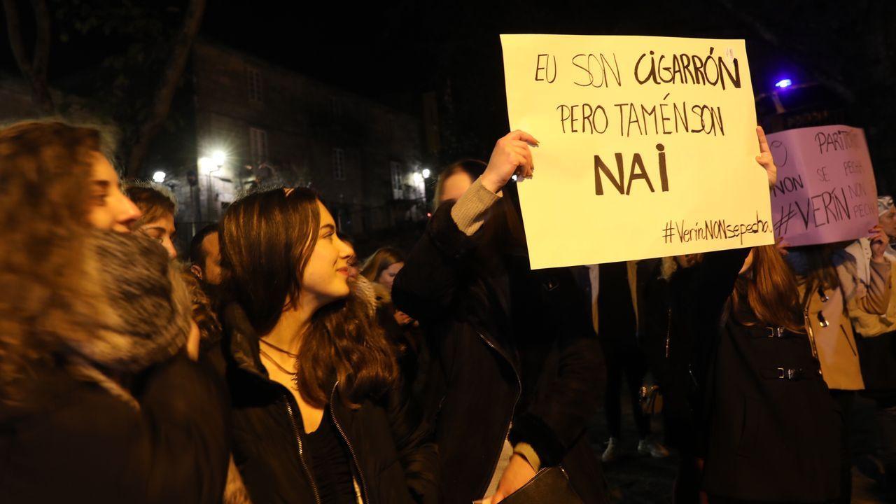Troteiros de Bande en Santiago.Santiago de Compostela también mostró su apoyo a las madres de Verín