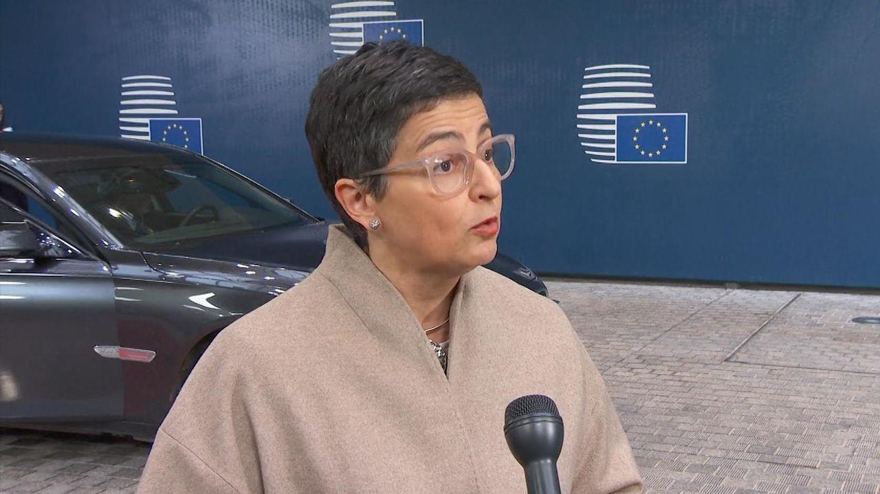 La ministra de Asuntos Exteriores, Arancha González, estuvo ayer en Bruselas